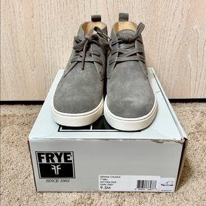 Frye Grey Gemma Chukka Shoes Sz 9.5M NIB